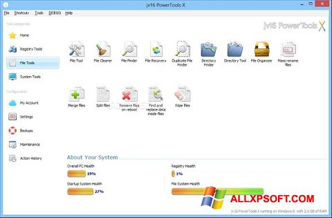 স্ক্রিনশট jv16 PowerTools Windows XP