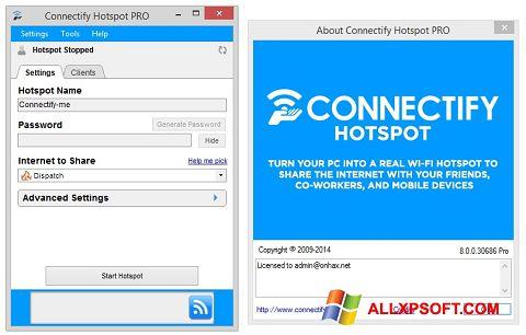 স্ক্রিনশট Connectify Hotspot Windows XP