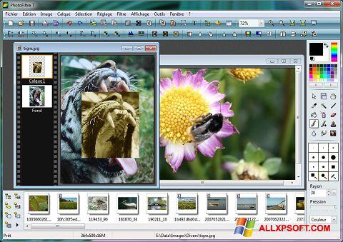 স্ক্রিনশট PhotoFiltre Windows XP