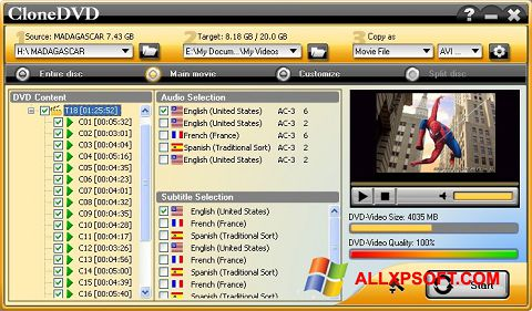 স্ক্রিনশট CloneDVD Windows XP