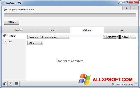 স্ক্রিনশট TeraCopy Windows XP