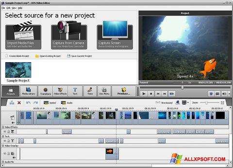 স্ক্রিনশট AVS Video Editor Windows XP