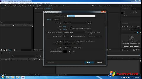 স্ক্রিনশট Adobe After Effects CC Windows XP