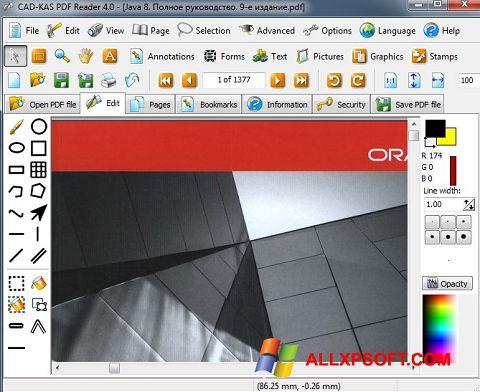 স্ক্রিনশট PDF Reader Windows XP