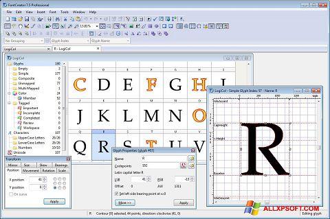 স্ক্রিনশট Font Creator Windows XP