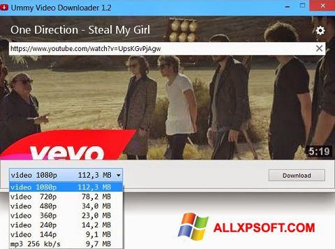 স্ক্রিনশট Ummy Video Downloader Windows XP