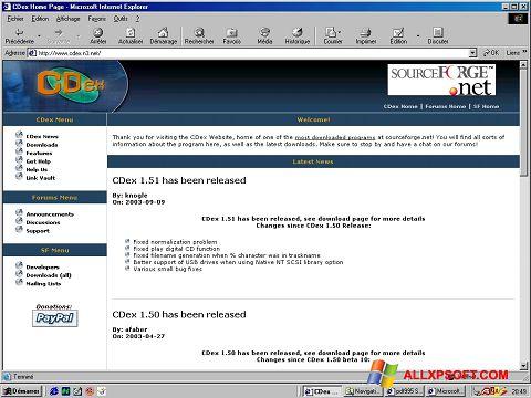 স্ক্রিনশট CDex Windows XP