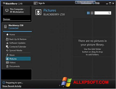 স্ক্রিনশট BlackBerry Link Windows XP