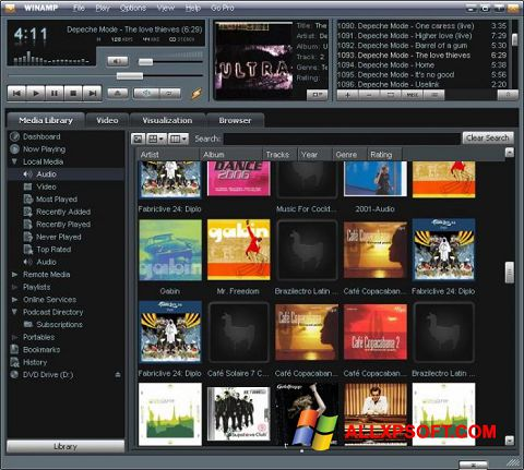 স্ক্রিনশট Winamp Windows XP
