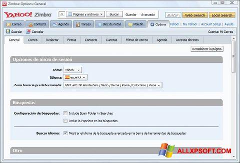 স্ক্রিনশট Zimbra Desktop Windows XP