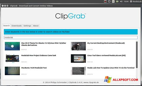 স্ক্রিনশট ClipGrab Windows XP