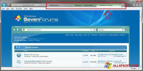স্ক্রিনশট Internet Explorer Windows XP