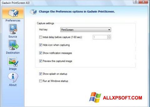 স্ক্রিনশট Gadwin PrintScreen Windows XP