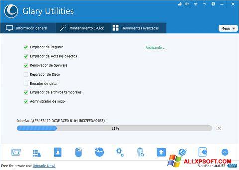 স্ক্রিনশট Glary Utilities Windows XP