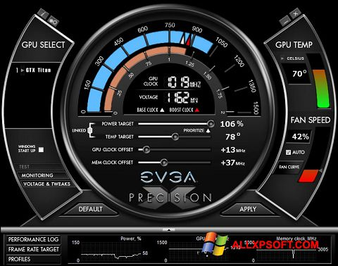 স্ক্রিনশট EVGA Precision X Windows XP