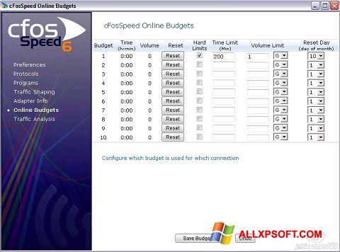 স্ক্রিনশট cFosSpeed Windows XP
