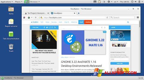 স্ক্রিনশট Tor Browser Windows XP