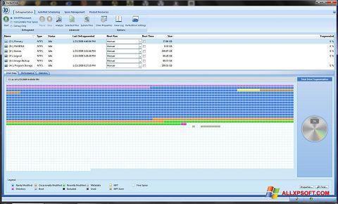 স্ক্রিনশট PerfectDisk Windows XP