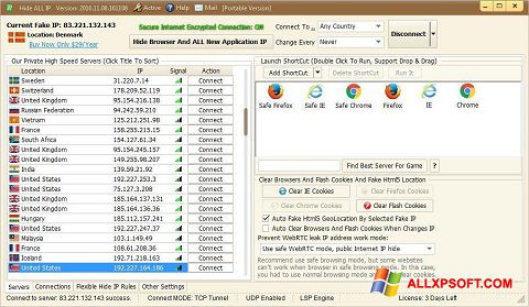 স্ক্রিনশট Hide ALL IP Windows XP