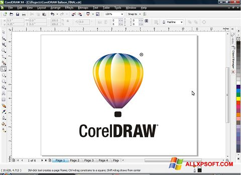 স্ক্রিনশট CorelDRAW Windows XP
