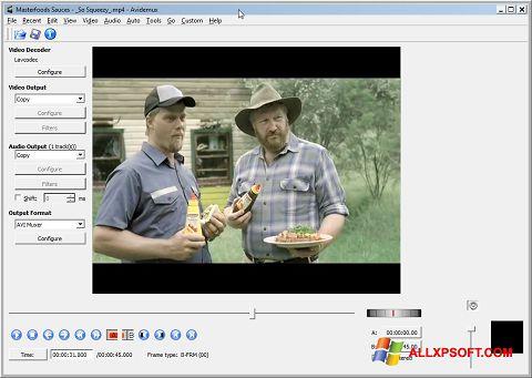 স্ক্রিনশট Avidemux Windows XP