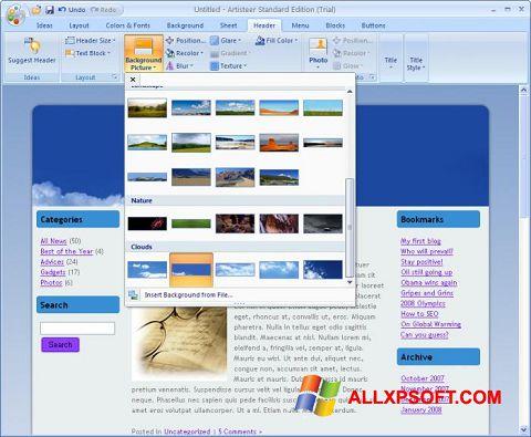 স্ক্রিনশট Artisteer Windows XP