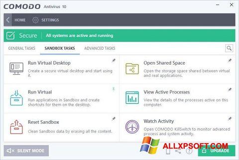 স্ক্রিনশট Comodo Antivirus Windows XP