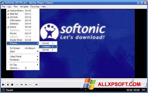 স্ক্রিনশট Media Player Classic Windows XP