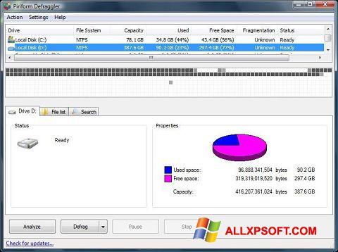 স্ক্রিনশট Defraggler Windows XP