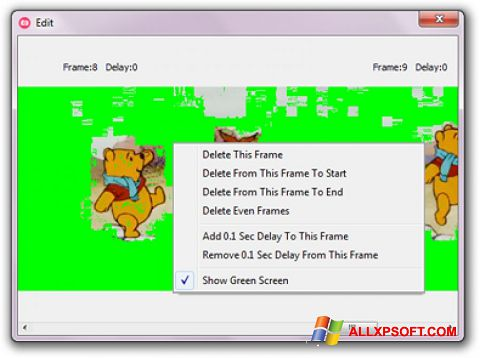স্ক্রিনশট GifCam Windows XP