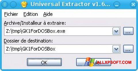 স্ক্রিনশট Universal Extractor Windows XP