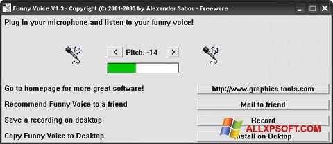 স্ক্রিনশট Funny Voice Windows XP