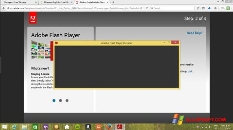 স্ক্রিনশট Adobe Flash Player Windows XP
