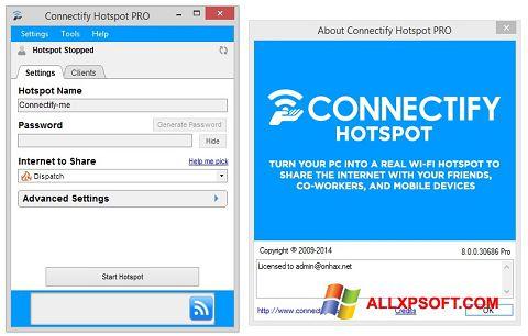 স্ক্রিনশট Connectify Hotspot PRO Windows XP