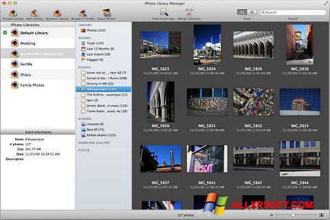 স্ক্রিনশট iPhoto Windows XP