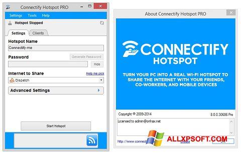 স্ক্রিনশট Connectify Windows XP