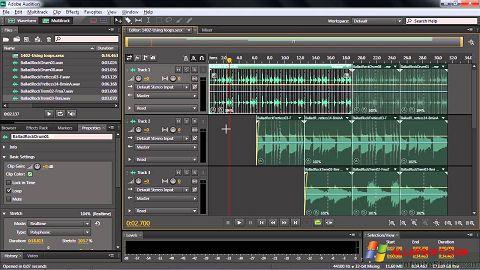 স্ক্রিনশট Adobe Audition CC Windows XP