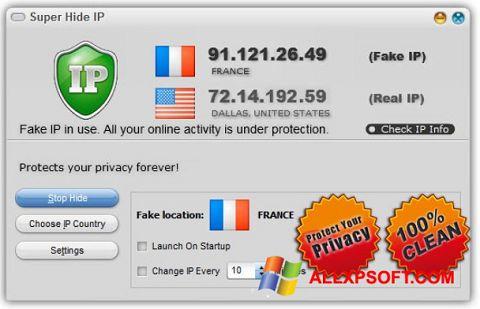 স্ক্রিনশট Super Hide IP Windows XP