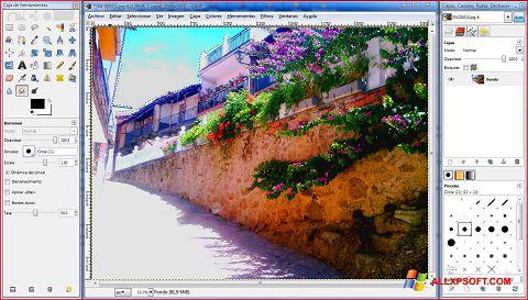 স্ক্রিনশট GIMP Windows XP