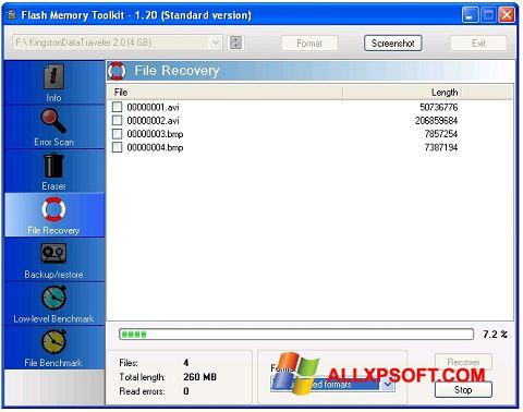 স্ক্রিনশট Flash Memory Toolkit Windows XP