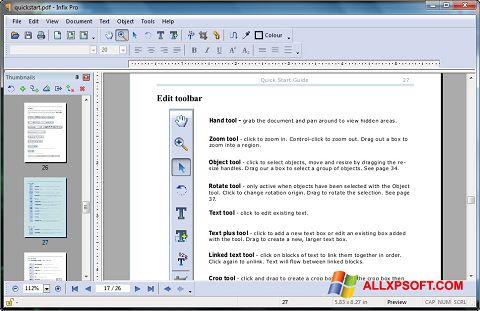 স্ক্রিনশট Infix PDF Editor Windows XP