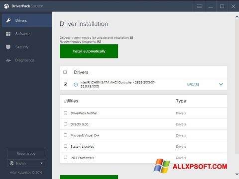 স্ক্রিনশট DriverPack Solution Windows XP