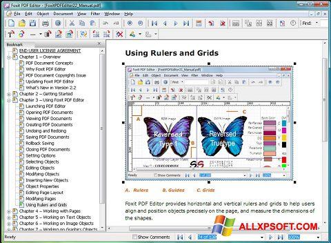 স্ক্রিনশট Foxit PDF Editor Windows XP