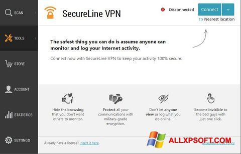 স্ক্রিনশট Avast SecureLine VPN Windows XP