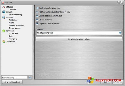 স্ক্রিনশট VSO Downloader Windows XP
