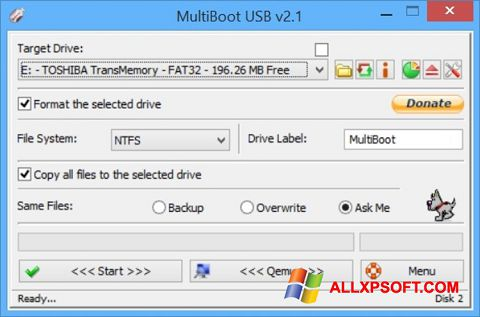 স্ক্রিনশট Multi Boot USB Windows XP