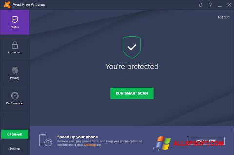 স্ক্রিনশট Avast Free Antivirus Windows XP