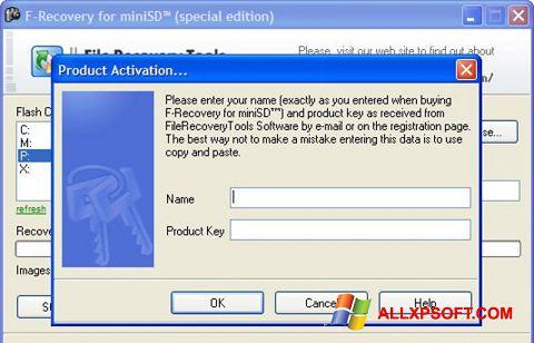স্ক্রিনশট F-Recovery SD Windows XP