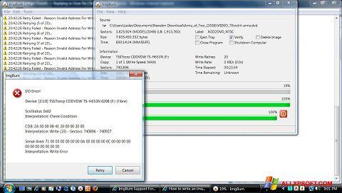 স্ক্রিনশট ImgBurn Windows XP
