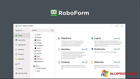 স্ক্রিনশট RoboForm Windows XP